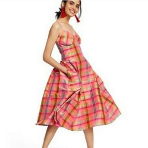 BNWT Isaac Mizrahi x Target Plaid Silk Dress 💕